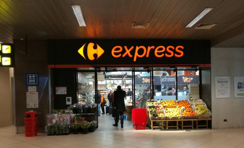 空港地下にあるスーパー