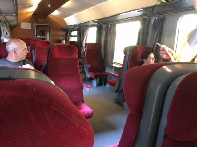列車の一等席